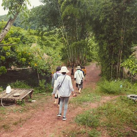 竹とりの様子